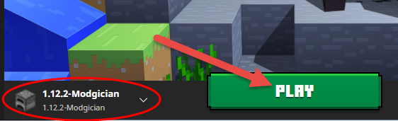 Click the Play button in Minecraft