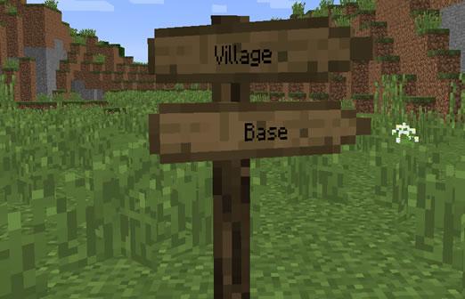Sign Post Minecraft Mod